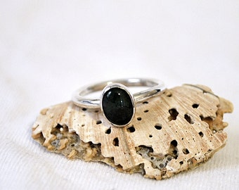 CLEARANCE! Simple Stone Sterling Silver Ring