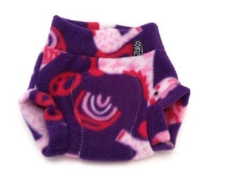 SMALL fleece Diaper Cover / Soaker: Purple Unicorn