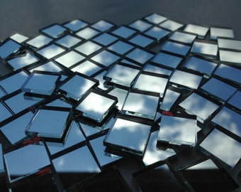 "Mosaic Tiles - Mirror - 100 1/2"" Squares - Hand-Cut Mirror Glass"