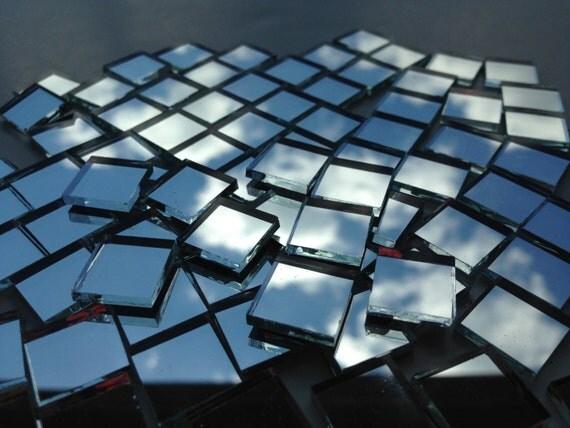 """Mosaic Tiles - Mirror - 100 1/2"""" Squares - Hand-Cut Mirror Glass"""