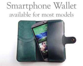 Leather Smartphone Wallet - iPhone 6 / iPhone 6 Plus / Galaxy S5 / HTC One / Droid MAXX / Many Others