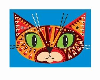Tortie Cat Postcard
