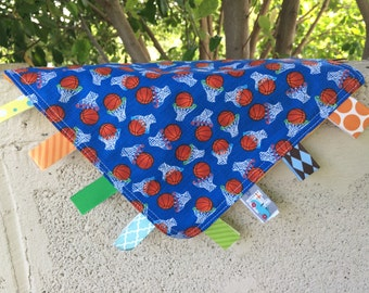 SALE BasketballTag Blanket with your choice of Minky // In Stock, Ready to Ship