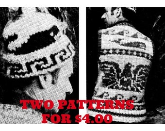 Cowichan Vest  White Buffalo Wool  Whale Vest Knitting PATTERN Plus Whale Hat Digital PATTERN  Instant Download on Etsy