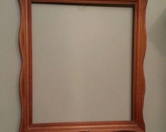 Original Handcarved Wood Frame - Rustic Home Decor