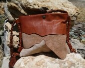 Small Leather Bag Crossbody / Womens handmade Leather bags / LunaBagDesigns