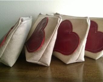 Set of 9 - Bridesmaid Clutch Purse, Leather, Bridesmaids Gift, Barn Wedding