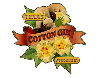 Texas Cotton Gin Museum Luggage Label