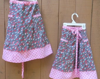 Girls' ~Matching~ Twin *Rocker*  hippie patchwork Sweeper Skirts