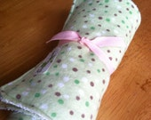 Wipes Unpaper Towels Reusable Paperless Flannel Baby Polka Dots Green Set of 4