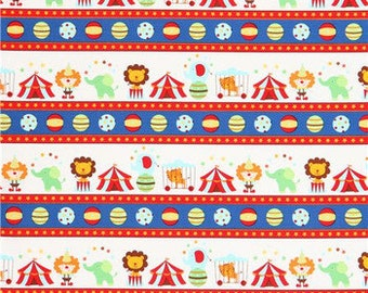 Fat Quarter, Circus, Baby Big Top, Elephant fabric, Circus Fabric, Lion Fabric, Timeless Treasures, 01919