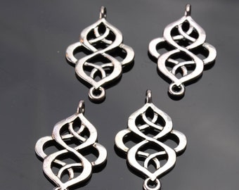 Silver Earring Components - 4 pack