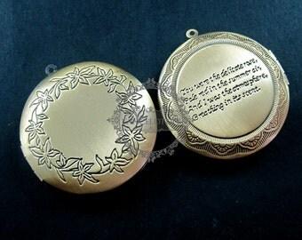 wholesale 5pcs vintage brass bronze locket pendant,photo locket ,round locket 1111011