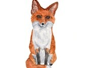 watercolor fox painting, woodland nursery print, fox nursery print, watercolor animals, fox nursery art, fox nursery wall art,  8X10 print