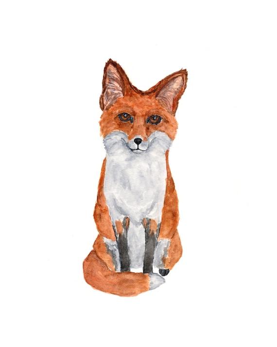 Sitting fox illustration - photo#7