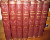 Collection of 1956 Grolier Encyclopedia Books - Embossed Covers