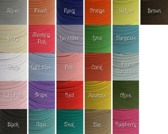 1/4th inch flat elastic - 20 yards - you choose color(s) for DIY headbands
