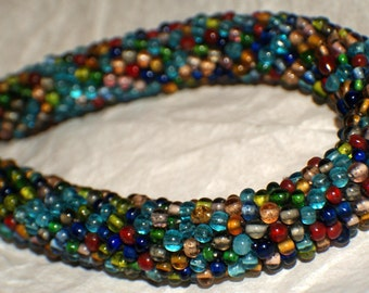 AFRICAN TRADE BEADS Necklace Beads 19in c1960