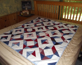 Hand Quilted Patritic Country Blanket