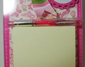 Pink & Yellow Post it note acrylic holder, Make a Note, postit