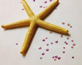 Gold starfish hair clip