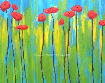 Abstract Poppies-print-8x8