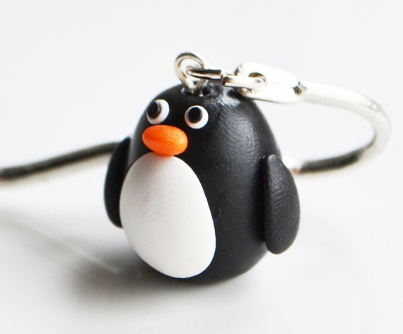 Penguin Bookmark, Fimo, Polymer Clay