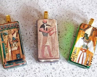 Egyptian God Osiris Tile Pendants. -  One Style Remaining