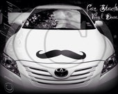 Giant Car Mustache Vinyl Decal- Mustache Sticker-Car decal-The Handlebar-Little Man Party-Handlebar Mustache-Mustache Theme-Wall Decor