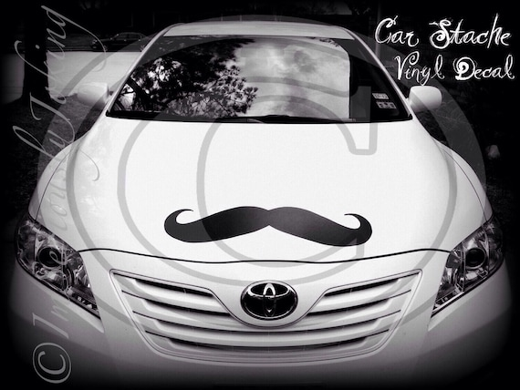 Giant Car Mustache Vinyl Decal- Mustache Sticker-Car decal-The Handlebar-Little Man Party-Handlebar Mustache-Mustache Theme-Wall Decor