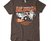 Doc's Delorean - Back to the Future T-shirt, Retro Brown and Orange