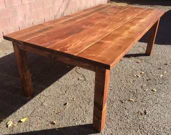 Reclaimed Cypress Dining Table By LocalTimber On Etsy