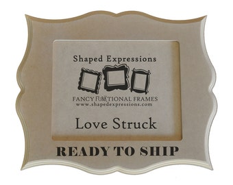 READY TO SHIP - 4x6 Love Struck unfinished picture frame