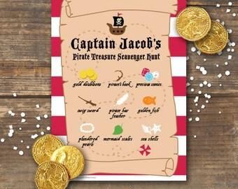 Pirate Treasure Scavenger Hunt Printable - Ahoy Matey!