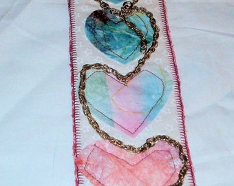 chained hearts bookmark