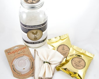 Reusable Organic Cotton DIY ColdBrew kit: gift pack