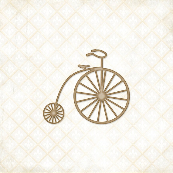 30% OFF 2 DAYS ONLY - Blue Fern Studios Chipboard - Penny Farthing