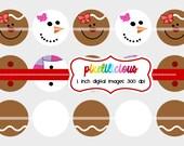 Bottle Cap Image Sheet - Instant Download - Christmas 6 -  1 Inch Digital Collage - Buy 2 Get 1 Free