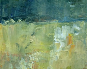 The Horizon Abstract Landscape Oil Painting