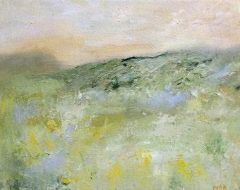 Golden Inspiration Landscape Original Oil Painting