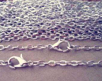 """30pcs 70cm Silver color """"0"""" shape  Link  chain 3mmx4mm"""