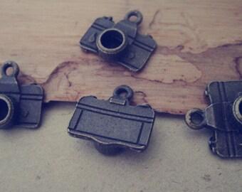 25pcs antique bronze camera pendant  charm 14mmx15mm