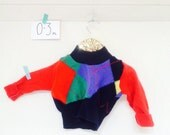 LAUGH 0-3m Baby Babies Jumper Pullover Pulli Top Sweater in Upcycled Wool Unisex