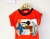 COVER  2-3 Years Kids Childrens T Shirt Upcycled in cotton Patch Work Cover Unisex