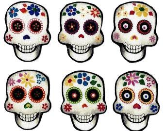 Iron on skulls appliques DIY