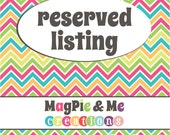 Reserved Listing for Sheri