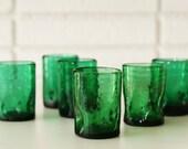 Small Emerald Blenko Glasses