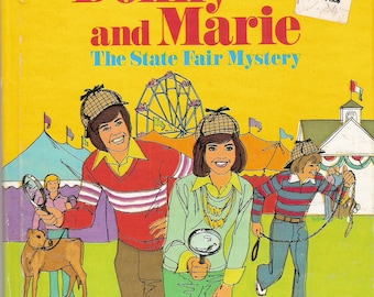 Donny and Marie The State Fair Mystery Vintage Whitman Tell A Tale Book Illustrated by Olindo Giacomini