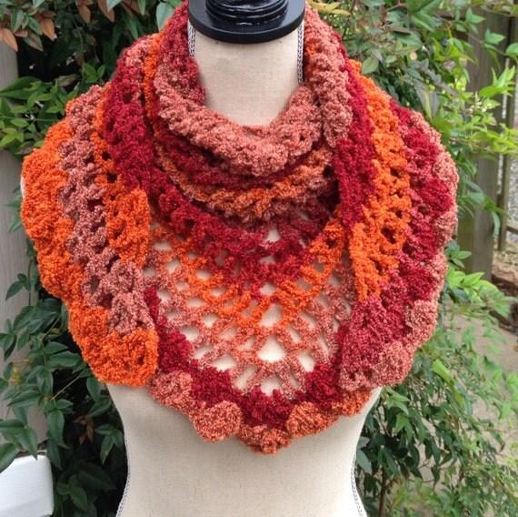 Crochet Scarf Road Trip Scarf Triangle Scarf by MooreThanBags