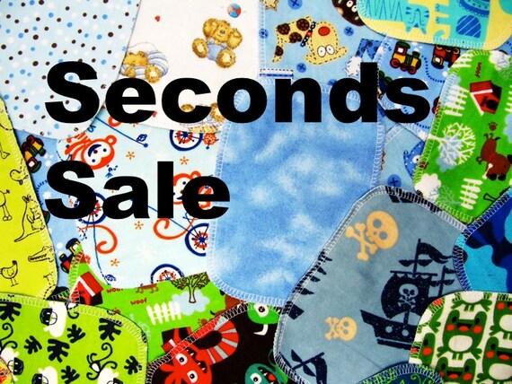 Seconds Cloth Wipes, 20 Boy Prints, Eco-Friendly Wipes, SALE Cloth Wipes, SECONDS WIPES